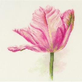 Light pink Tulips Cross Stitch Kit By Artibalt