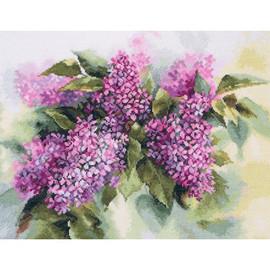 Watercolor Lilac Cross Stitch Kit By Artibalt
