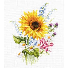 Bouquet With Sunflower Cross Stitch Kit By Artibalt