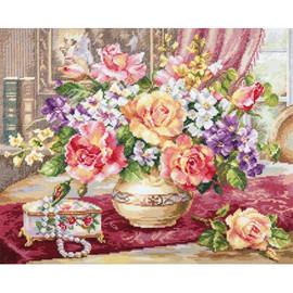 Roses In The Living Room Cross Stitch Kit By Artibalt