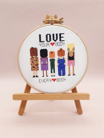 Love your body Cross Stitch Kit by Sew Sophie