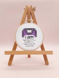I am worthy Cross Stitch Kit by Sew sophie