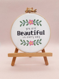 You are Beautiful in everyway Cross Stitch Kit by Sew Sophie