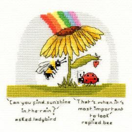 Finding Sunshine Cross Stitch Kit Bothy Threads