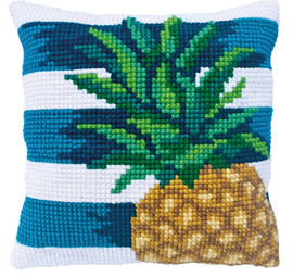 Pine Lime Printed Cross Stitch Kit by Needleart World