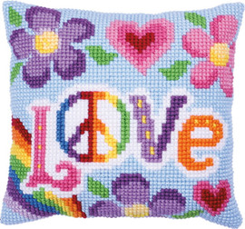 Love Always Printed Cross Stitch Kit by Needleart World