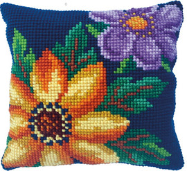 Evening Bloom Printed Cross Stitch Kit by Needleart world