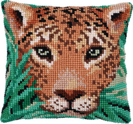 Leopard Watch Printed Cross Stitch Kit by Needleart World