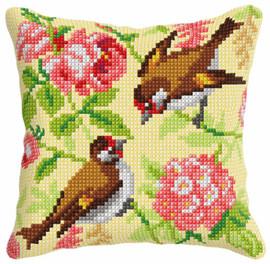 Birds Cushion Chunky Cross Stitch Kit by Orchidea