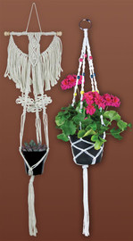 Plant Hangers Set of 2 Macramé Kit by Design Works