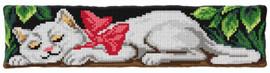 Sleeping Cat Large Cushion Chunky Cross Stitch Kit by Orchidea