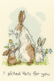I Picked This For You Cross Stitch Kit by Bothy Threads