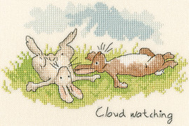 Cloud Watching Cross Stitch Kit by Bothy Threads