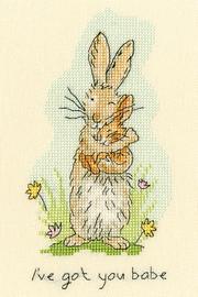 I've Got You Babe Cross Stitch Kit by Bothy Threads