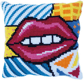 Patchwork Kiss Printed Chunky Cross Stitch Kit by Needleart World