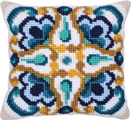 Sienna Tile Printed Chunky Cross Stitch Kit by Needleart World