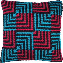 Blue and Red Bargello Tapestry Kits Kit by Needleart World