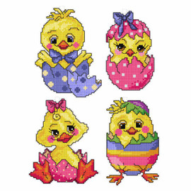 Easter Eggs: Set of 4 Cross Stitch Kit by Orchidea