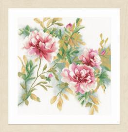 Rose Branch Cross Stitch Kit By Lanarte