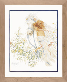 Horse and Flowers Cross Stitch Kit by Lararte