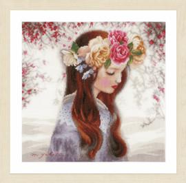 The Day When Flowers Cross Stitch Kit By Lanarte