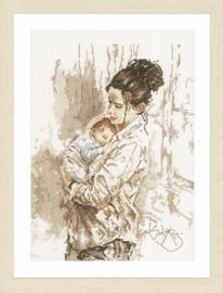 Mothers Love Cross Stitch Kit by Lanarte
