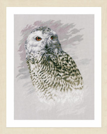 Snowy Owl Cross Stitch Kit by Lanarte
