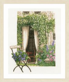 Our Garden View Cross Stitch Kit by Lanarte