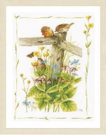 Cosy Garden Corner Cross Stitch Kit by Lanarte