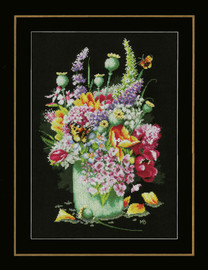 Flower Power Bouquet Cross Stitch Kit by Lanarte