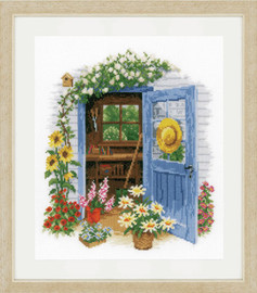 My Garden Shed Cross Stitch Kit by Vervaco