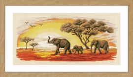Elephants Cross Stitch Kit by Vervaco