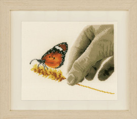 Hand and Butterfly Cross Stitch Kit by Vervaco