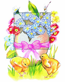 Easter Egg Greetings Card Counted Cross Stitch Kit by Orchidea
