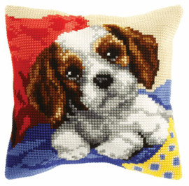 Doggy Large Cushion Chunky Cross Stitch Kit by Orchidea