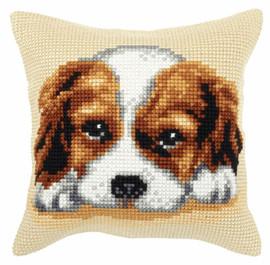 Spaniel Dog Large Cushion Chunky Cross Stitch Kit by Orchidea