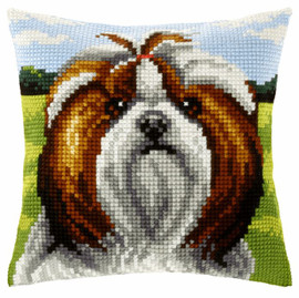 Dog Large Cushion Chunky Cross Stitch Kit by Orchidea
