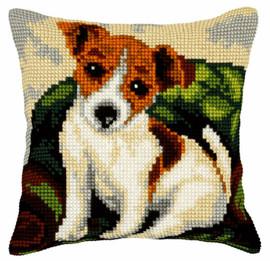 Little Dog Large Cushion Chunky Cross Stitch Kit by Orchidea