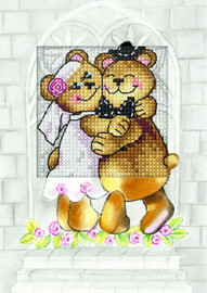 Just Married Greetings Card Cross Stitch Kit by Orchidea