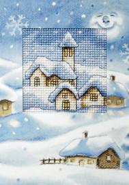 Christmas Church Cross stitch Card By Orchidea