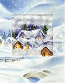 Christmas Village Cross Stitch Kit by Orchidea