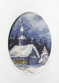 Twilight Church Cross Stitch Kit by Orchidea