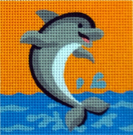 Dolphin Tapestry Kit by Gobelin