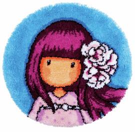 Gorjuss Cherry Blossom Latch hook Rug Kit by Vervaco