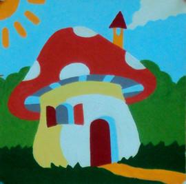 Mushroom House Tapestry Kit by Gobelin