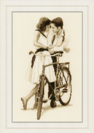 Couple with Bicycle Counted Cross Stitch Kit: by Vervaco