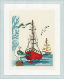 Sailboat Counted Cross Stitch Kit by Vervaco