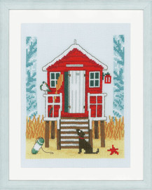 Beach Cabin Counted Cross Stitch Kit By Vervaco