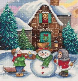 Winter Scene Counted Cross Stitch Kit By Panna
