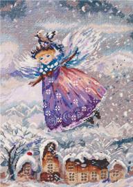 Winter Angel Counted Cross Stitch Kits By Panna